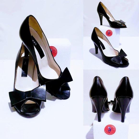 Marc Jacobs Shoes - Marc Jacobs Bow peep toe heels, Black size 7M🐝💋